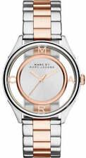 NEW Marc Jacobs Tether Two-Tone Silver & Rose Gold Women's Watch MBM3436