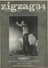 ZIGZAG No 34 August 1973 Roger Chapman Family Lou Reed Captain Beefheart