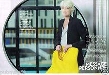 Coupure de Presse Clipping 2015 (6 pages) Francoise Hardy message personnel