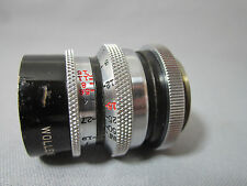 SUPER-16! WOLLENSAK CINE RAPTAR FAST 1.9/25MM C-MOUNT LENS for 16MM MOVIE CAMERA
