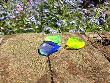 Hufschmid Style Hand Carved Fluorescent Yellow Acrylic Guitar Plectrum