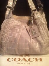 Coach 14602 Madison Maggie Gray Lavender Crocodile Exotic Leather Tote Stunning!