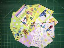 Rockabye by Avlyn 10pc Fat Quarter Bundle 1950's Inspired Kids Fabric