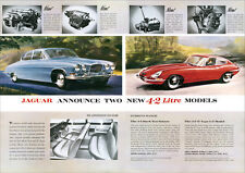 JAGUAR MK TEN Mark 10 & E TYPE RETRO A3 POSTER PRINT FROM CLASSIC 60's ADVERT