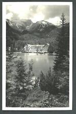 Hotel Lago di Braies ( Bolzano ) - viaggiata nel 1938 per l'Aprica