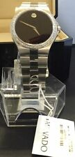 New Men's Movado Black  0606555 0.93 ct.aprx.custom set real  Diamond Watch