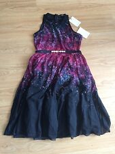 Little Mistress Black With Red Print Ladies Dress ~size14