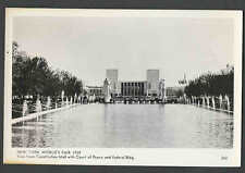 1939 RPPC* NEW YORK WORLDS FAIR VIEW FROM CONSTITUTION MALL W/COURT SEE INFO