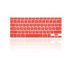 "Russian / English RED Silicone Keyboard Cover Skin for Macbook Pro 13"" 15"" 17"""