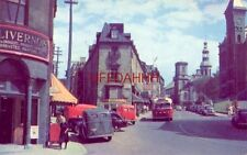 FABRIQUE STREET and CATHEDRAL, QUEBEC CANADA 1940's era autos