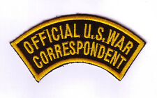 WWII - OFFICIAL US WAR CORRESPONDENT (Reproduction)