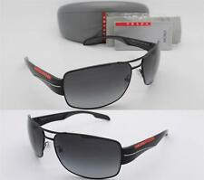 NEW PRADA SUNGLASSES PS 53NS 7AX5W1 Black Frame / Polarized Grey Gradient 65mm