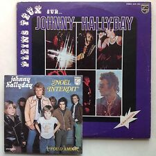 JOHNNY HALLYDAY pair PLEINS FEUX 2LP Canada only NOEL INTERDIT France 45rpm ORIG