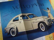 NOS Beautiful Original Genuine 1959 Volvo 544 Dealer Brochure USA SELLER
