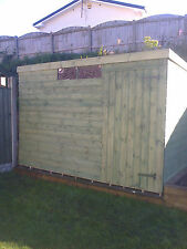 12X8 Garden Shed Pent house tongue and groove