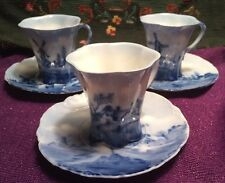 R. C. Versailles Dutch Scene Demitasse Cup and Saucer (Set Of 3)
