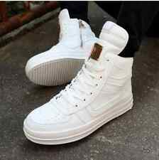 Fashion Men's High Top Sneakers Ankle Boots Lace Up Skateboard Casual Shoes