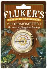 "FLUKER ROUND THERMOMETER ""THE ROLLS ROYCE TEMP"" REPTILE FREE SHIP USA"