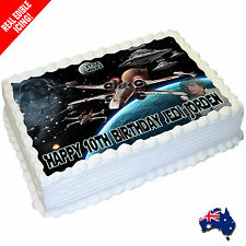 Star Wars Edible Cake Image Personalised Icing Birthday Decoration Party Topper