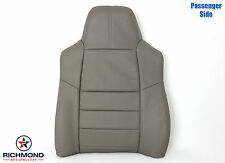 2008 2009 2010 Ford F250 Lariat-Passenger Side Lean Back Leather Seat Cover Gray