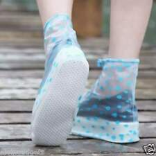 Ladies Rain Snow Waterproof Foldable Shoes Cover( S - Blue)