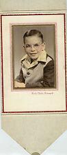 Vintage Studio Photo in Folder-Indianapolis, Indiana, Little Boy W/Glasses, Vest