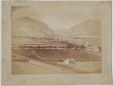 RARE Orig Albumen Photo - Island of Hawaii - Sandwich Islands c 1870s Settlement