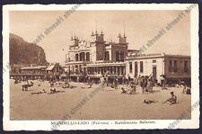 PALERMO CITTÀ 126 MONDELLO LIDO - STABILIMENTO BALNEARE Cartolina 1935