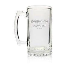 Custom Personalized 27oz BEER MUG GLASS Engraved Stein ADD TEXT & IMAGES !!