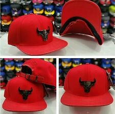 Pro Standard Red Chicago Bulls Team Metal Plate Badge Strapback Hat
