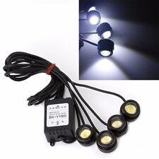 4 In 1 12V Hawkeye LED Lights Car Emergency Strobe DRL Wireless Remote Control