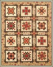 "~ NEW PIECED SAMPLER QUILT PATTERN ~ COMPLETE BLOCK OF THE MONTH SET  ~ 66""x86"""