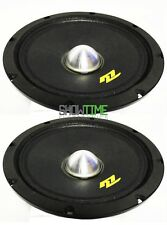 Pair of McLaren Sound MLM-800ND 8″ 400W 4-Ohm Car Audio Midrange NEO Mid Speaker