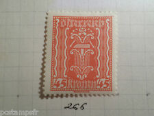 AUTRICHE AUSTRIA, 1922, timbre 266, ARMOIRIES, neuf*, OSTERREICH VF MH STAMP