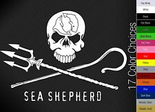 Sea Shepherd Jolly Roger Sticker - Anti Whaling Whale Wars Pirate Decal