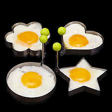 4pcs Stainless Steel Pancake /  Egg Mold Kitchen Tool Set