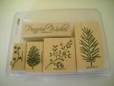 Stampin Up Peaceful Wishes Wood Mount Retired