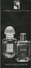 Publicité Advertising  MADELEINE DE RAUCH  parfum