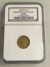 1854-O  LIBERTY HEAD $2.5 DOLLAR GOLD QUARTER EAGLE NGC XF40