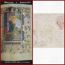 CATALOGUE MILLON 2001 G. DORE J DROUET NERVAL TAINE BEAUVOIR BEAUDELAIRE COLETTE