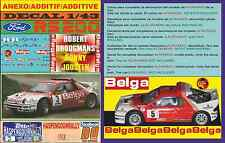 ANEXO DECAL 1/43 FORD RS 200 ROBERT DROOGMANS HASPENGOUWRALLY 1986 (01)