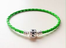 1PCS Grass Green Leather Bracelets Bangle For 925 European Charms/Beads