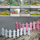 Wooden Palisade Fence Garden Ornament Accessory Plant Pots Fairy Scenery Decor