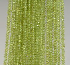 4X3-3X2MM PERIDOT GEMSTONE GREEN GRADE AAA FACETED RONDELLE LOOSE BEADS 13""