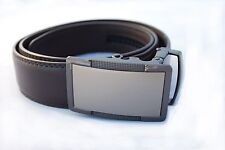 Dburg Products Men's One Size Adjustable Ratchet/Ratcheting Belt Brown Leather