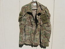 GENUINE US ARMY COMBAT UNIFORM COAT MULTICAM FLAME RESISTANT SMALL LONG 5J