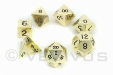 DICE Metal Mk 2 - BRONZE Set - d20 Shiny Heavy RPG D&D Zinc Alloy Gold Color