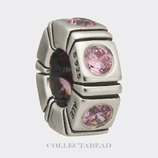 Authentic Pandora Sterling Silver Pink Trinity CZ Spacer 790368PCZ