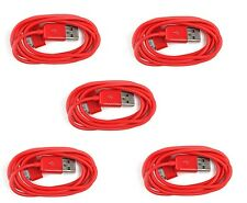 5X Red USB Sync Data Charging Charger Cable for Apple iPhone 4 4S 4G 4th Gen 3G