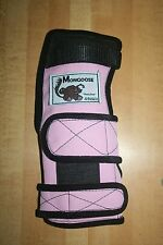"""Mongoose """"Lifter"""" Bowling Wrist Band Support, XSLLP Left Hand, Extra Small, Pink"""